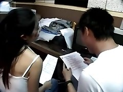Taiwanese couple take a examine break