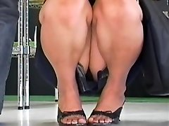 Sizzling up skirt compilation of careless Asian bunnies