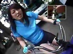 Railing Dildo-Bikes In Public