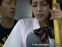 Milky Teenie Public Bus Sex in Japan!