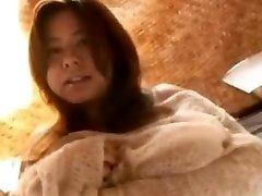 Fuko gets a blast of gloppy hot goo all over her humungous teenage bosoms