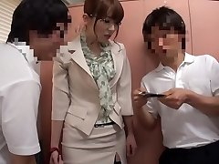 Insane Asian model Yui Hatano in Best stockings, gangbang JAV clip