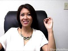 Chinese Milf Gloryhole Interview Blowjob