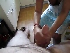 blessed holiday Handjob from asian maid