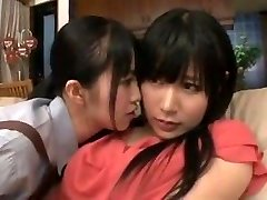 maid mother daughter in lesbian action