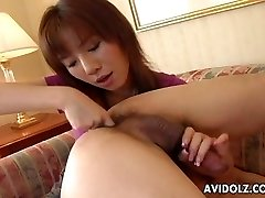 Asian slut eats his ass and gargles his donger