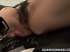 Asian babe bond and fuckd by a screwing