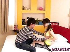japanese pornstar Miku Airi gets her jugs spunked