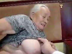 80yr old Japanese Granny Still Loves to Fuck Uncensored