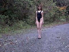 Slender dolls in swimsuit