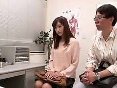 Japanese couple going to fertility health center