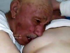 Old man plow grandma
