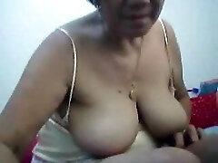 Filipino grandmother 66 pleasuring me on cam