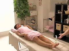 Great Japanese intercourse caught by a covert cam in massage room