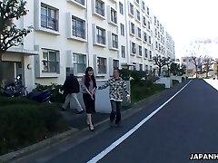 Ugly bald Japanese man fucks lovely looking gal Hitomi Kano