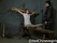 Chinese Interrogation with electric&ticklish feet torture
