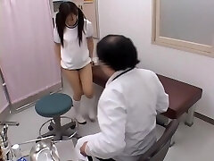 Sexy japanese is fingered hard by her naughty gynecologist