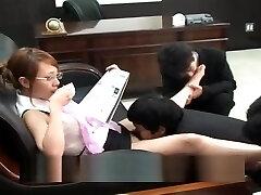 JP - Femdom Office Facesitting, Pussy Licking, Ass Licking, Feet 2