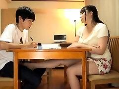 Busty Japanese baps teasing