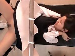 Sexy yum-yum fingered by japanese gynecologist in voyeur movie
