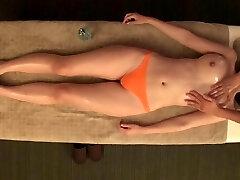 JAV star Asahi Mizuno CMNF erotic grease massage Subtitled