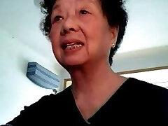 Asian granny at cam