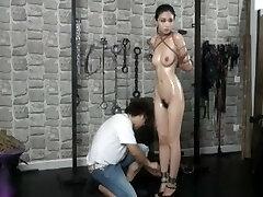Elegent chinese naked model Anke in BDSM