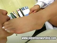Japanese women doctors pantyhose feet