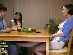 Japanese Footjob under the table #3