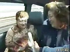 BBW Jap Grannies on a Excursion Bus