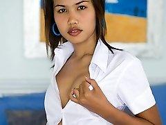 Petite Asian coed
