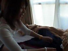 kuumin japanilainen tyttö saya mizuki vuonna kiimainen, suihinotto, valu jav clip