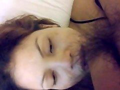 Riding shag and mouth cum with face