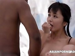 Asian fuck by two black dicks - ASIANPORNDADD