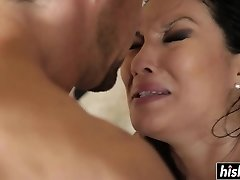 Chinese beauty enjoys riding his cock