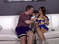 Asian CheerLeader fucks her homies father