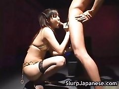 Hot japanese biotch ass licking some guy part5