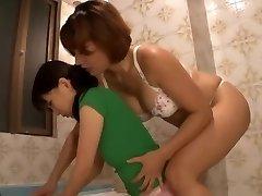 जापानी लेस्बियन नौकरानी