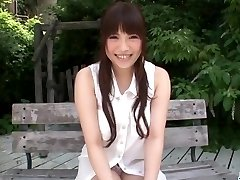 Juicy outdoor solo getting off with Yuri Sato