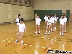 sizzling Japanese women flashing