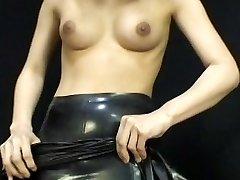 일본어 라텍스 드레스 054