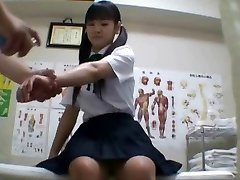Asian schoolgirl (18+) fucked during medical check-up