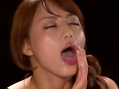Amazing Japanese model Akiho Yoshizawa in Glorious POINT OF VIEW, Facial JAV scene