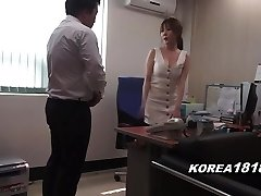 Korean porn RED-HOT Korean Boss Lady