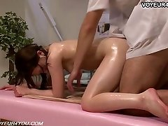 Chinese Girl Gets Body Massage Orgy