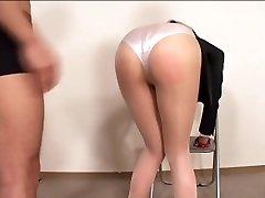 officelady în sheer pantyhose