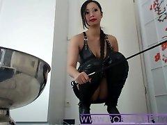 Azjatycki gospodyni PornbabeTyra dysku upokorzenia