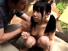 Petite japanese teenie licked out by group