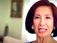 64 year elderly Milf Kim Anh converses about Anal Sex
