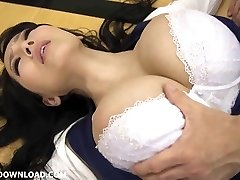 Giant huge-titted asian babe